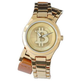 Montres Bracelet Heure pour le logo élégant de bitcoin de ~ de