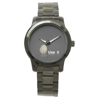 Montres Bracelet Horloge Moderne Noir Cerveau Utilise It
