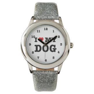Montres Bracelet I coeur mon chien