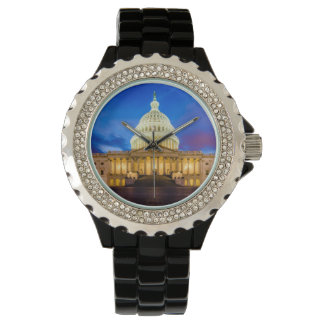 Montres Bracelet Le capitol des Etats-Unis à l'heure bleue