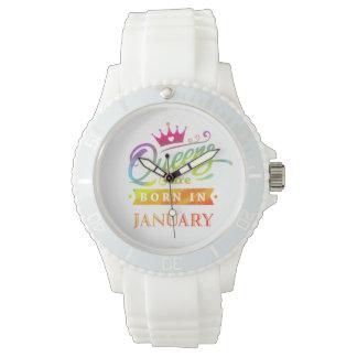 Montres Bracelet Le Queens sont en janvier cadeau d'anniversaire né