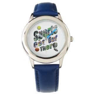 Montres Bracelet Les sports sortent là le logo d'image, chevrotin
