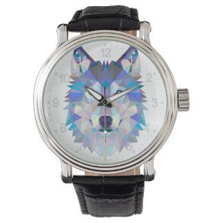 Montres Bracelet Loup de polygone - loup géométrique - loup