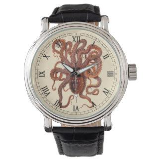 Montres Bracelet Macropus vintage de poulpe, animaux aquatiques