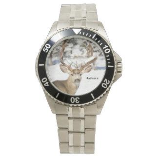 Montres Bracelet Mâle personnalisé de cerfs communs de mule