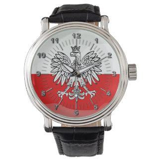 Montres Bracelet Manteau de la Pologne des bras