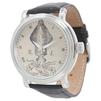 Montres Bracelet Monogramme personnalisé par poulpe nautique