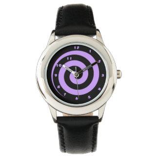 Montres Bracelet Montre-bracelet en spirale hypnotique pourpre