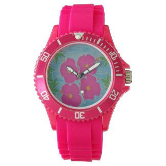 Montres Bracelet Montre-bracelet rose de ketmie