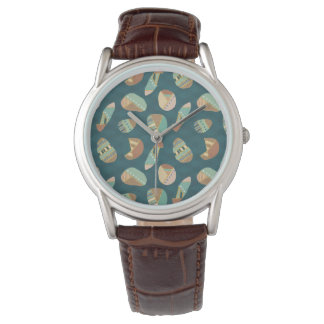 Montres Bracelet Motif bleu extérieur d'étape | de Geo