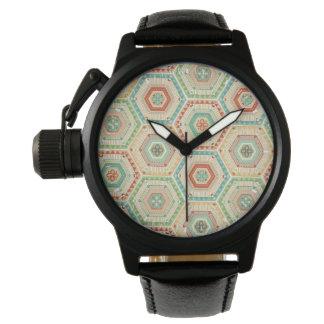 Montres Bracelet Motif d'hexagone de sud-ouest d'étape | de Geo de