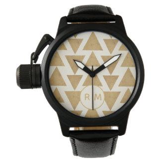 Montres Bracelet Motif géométrique de Geo d'or extérieur d'étape |