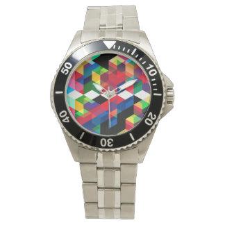 Montres Bracelet Motif géométrique lumineux de diamant