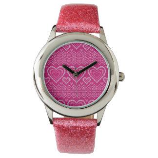 Montres Bracelet Motif tricoté par Saint-Valentin 2