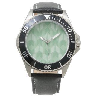 Montres Bracelet Motif vert extérieur de flèche d'étape | de Geo
