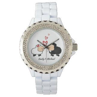 Montres Bracelet Moutons drôles mignons gais adorables dans l'amour