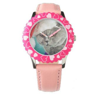 Montres Bracelet Noël gris de chat - chat de Noël - chat de chaton
