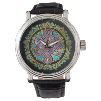 Montres Bracelet Noeud sans fin dans la forme de Lotus de mandala