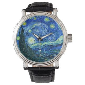 Montres Bracelet Nuit étoilée de Van Gogh