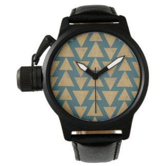 Montres Bracelet Or extérieur d'étape | de Geo et motif turquoise