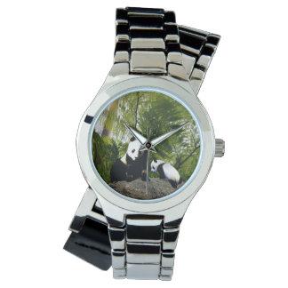 Montres Bracelet Panda de maman et de bébé, dames