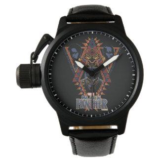 Montres Bracelet Panneau de tribal de guerriers de la panthère