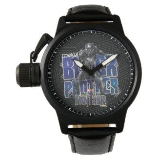 Montres Bracelet Panthère noire   T'Challa - graphique de panthère
