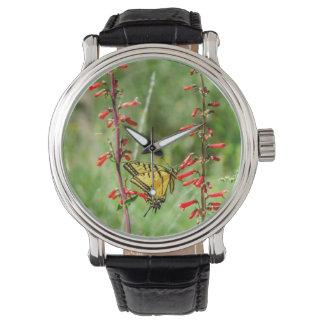 Montres Bracelet Papillons et fleurs sauvages