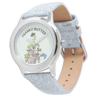 Montres Bracelet Parties scintillantes ÉTRANGÈRES d'argent de BANDE
