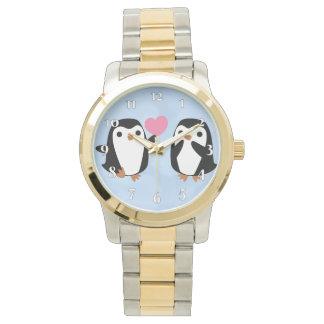 Montres Bracelet Pingouins dans l'amour