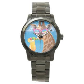 Montres Bracelet Plage de girafe - girafe drôle