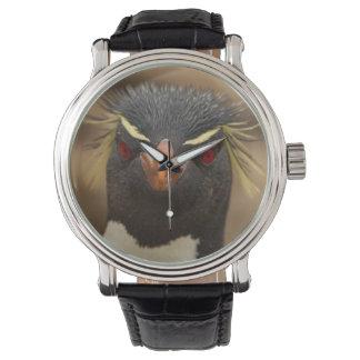 Montres Bracelet Portrait de pingouin de Rockhopper