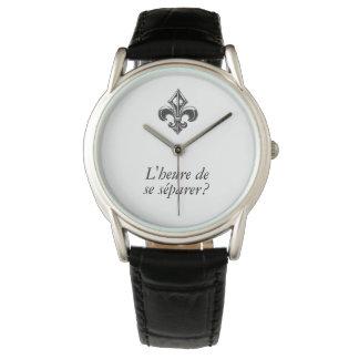 Montres Bracelet Québec fleur de lys VOTRE TEXTE Heure de seSéparer