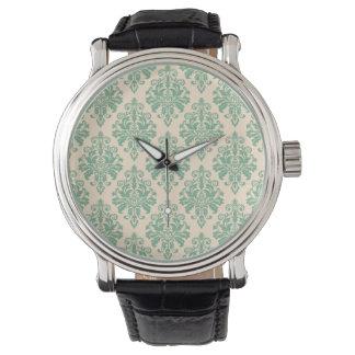 Montres Bracelet Rétro motif vintage élégant de damassé