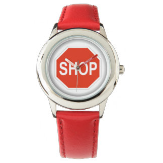 Montres Bracelet Signe drôle d'arrêt (magasin)
