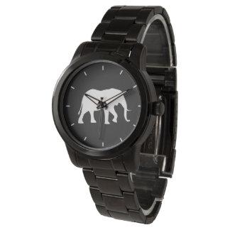 Montres Bracelet Silhouette d'éléphant africain