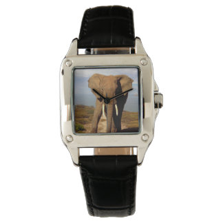 Montres Bracelet Sortie de jour de plage d'éléphant,
