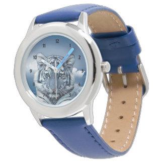 Montres Bracelet Tigre blanc bleu
