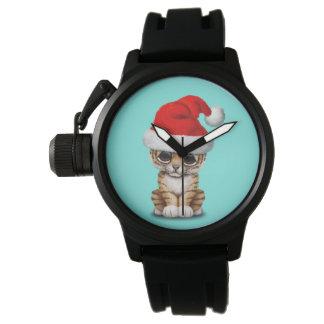 Montres Bracelet Tigre CUB mignon utilisant un casquette de Père