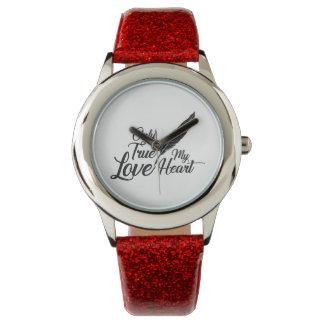 Montres Bracelet Véritable plume d'amour d'illustration