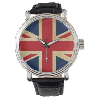 Montres Bracelet Vieux drapeau grunge vintage Union Jack du