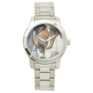 Montres Bracelet Visage timide de Fox Terrier, unisexe