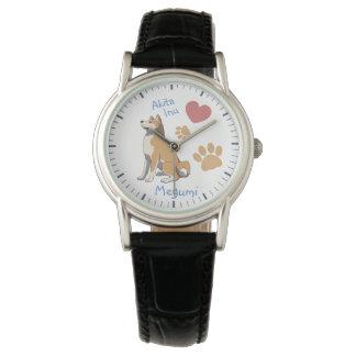 Montres Bracelet Watch Akita Inu dames montre-bracelet