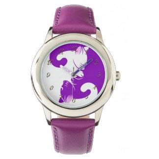 Montres Bracelet Yang de yin de chats