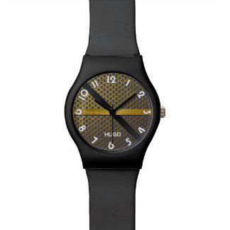 "Montres Cadran noire May28th ""Dark Gold"""