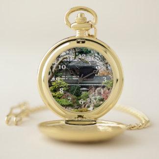 Montres De Poche Jardin de thé japonais