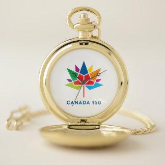 Montres De Poche Logo de fonctionnaire du Canada 150 - multicolore