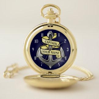 Montres De Poche Nom de coutume de capitaine Anchor Nautical Yacht