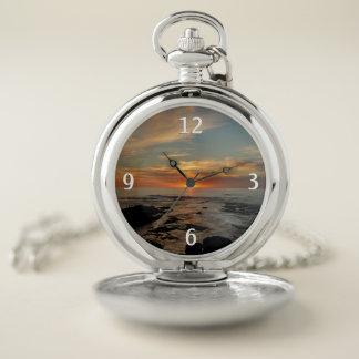 Montres De Poche Paysage marin du coucher du soleil II la