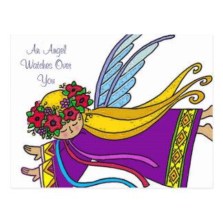 Montres d'un ange au-dessus de vous carte postale